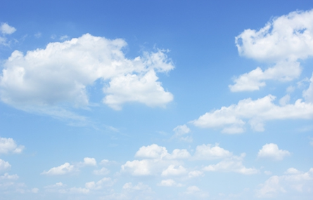 Photo of a blue sky with clouds
